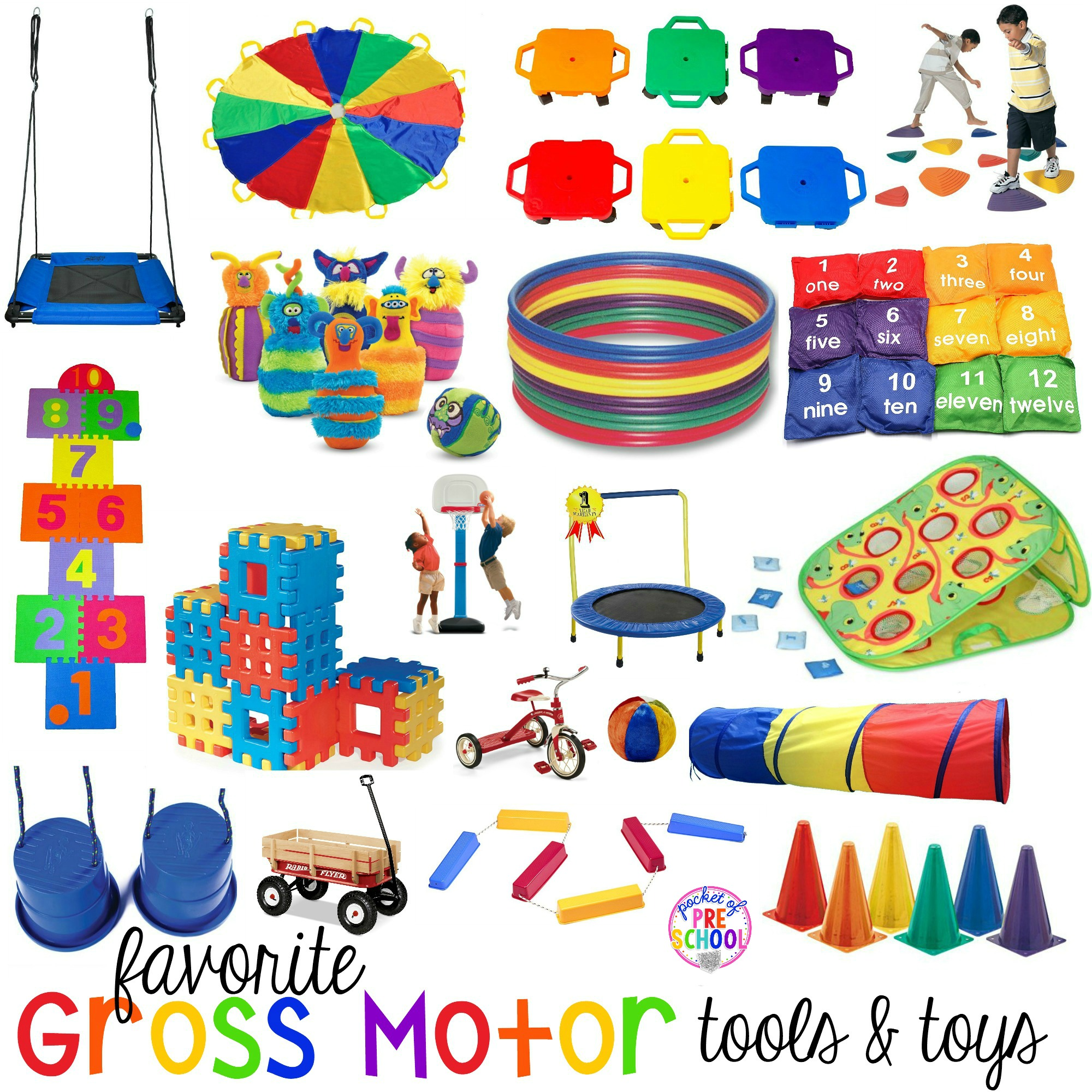 Gross Motor Toys And Tools For Indoor And Outdoor Recess