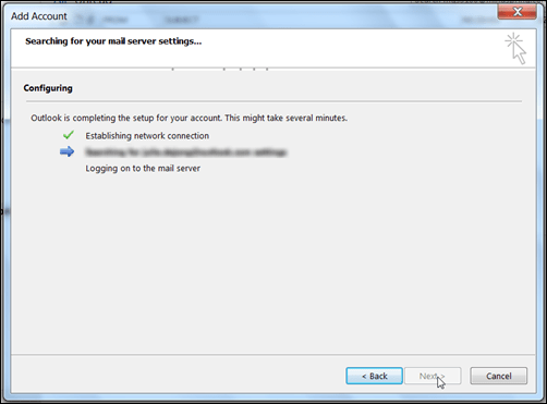 Outlook Configuring