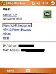 Connect your Pocket PC to a WIFI Access Point | PocketPrimer