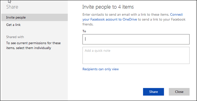 Share OneDrive Files With Another Microsoft Account