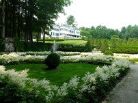View of the house from the white Italian garden.