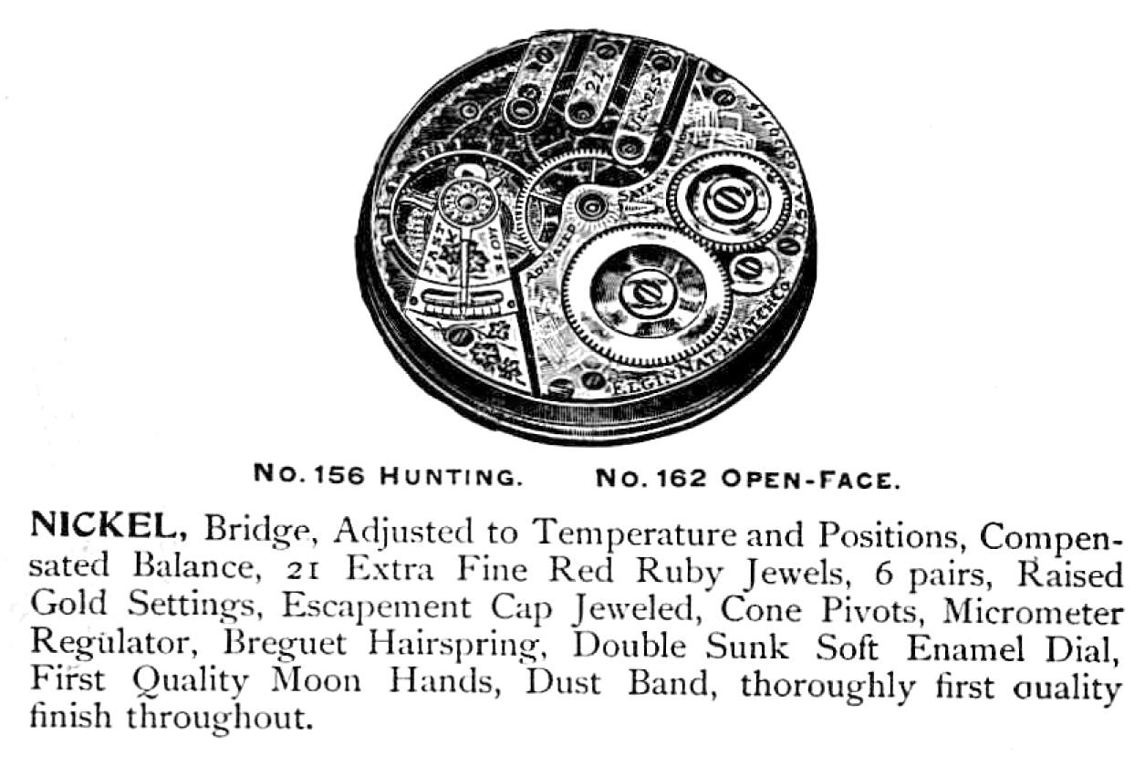 Elgin Pocket Watch: Serial Number 6995177 (Grade 156)
