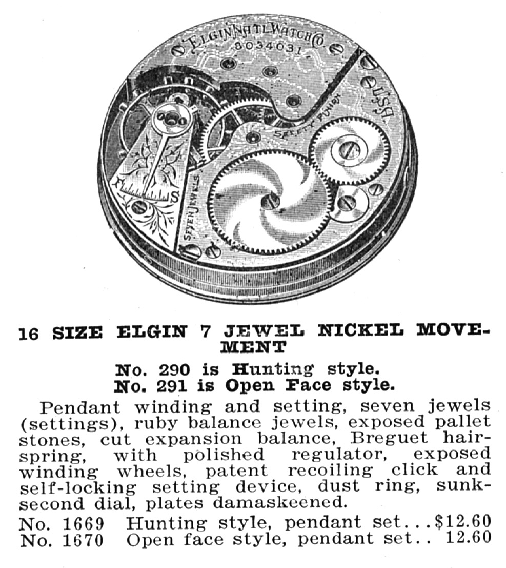 Elgin Pocket Watch Information: Serial Number 21392034