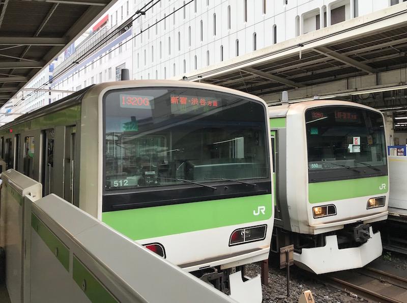 山手線駅ホーム