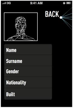 Schermata applicazione - Account