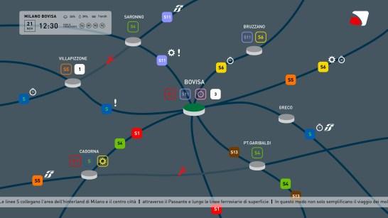 Mappa globale rete - zoomata sulla stazione di bovisa