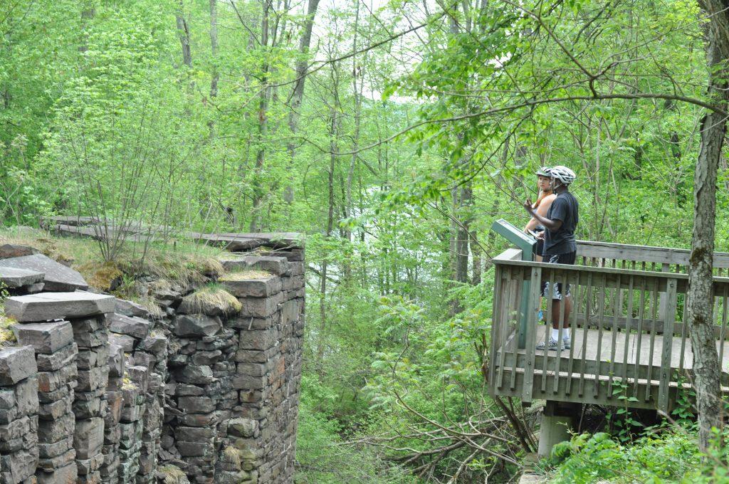Lehigh Gorge Trail Pocono Biking History Tour - Lock System