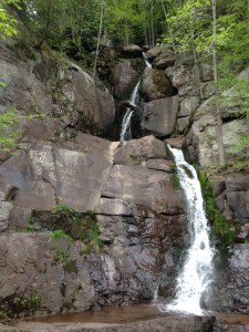 Waterfall before Rockport Access Area in the Lehigh Gorge State Park - Pocono Bike Rentals