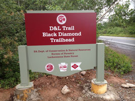 D and L Black Diamond Trail Trailhead Glen Summit Access Point White Haven PA