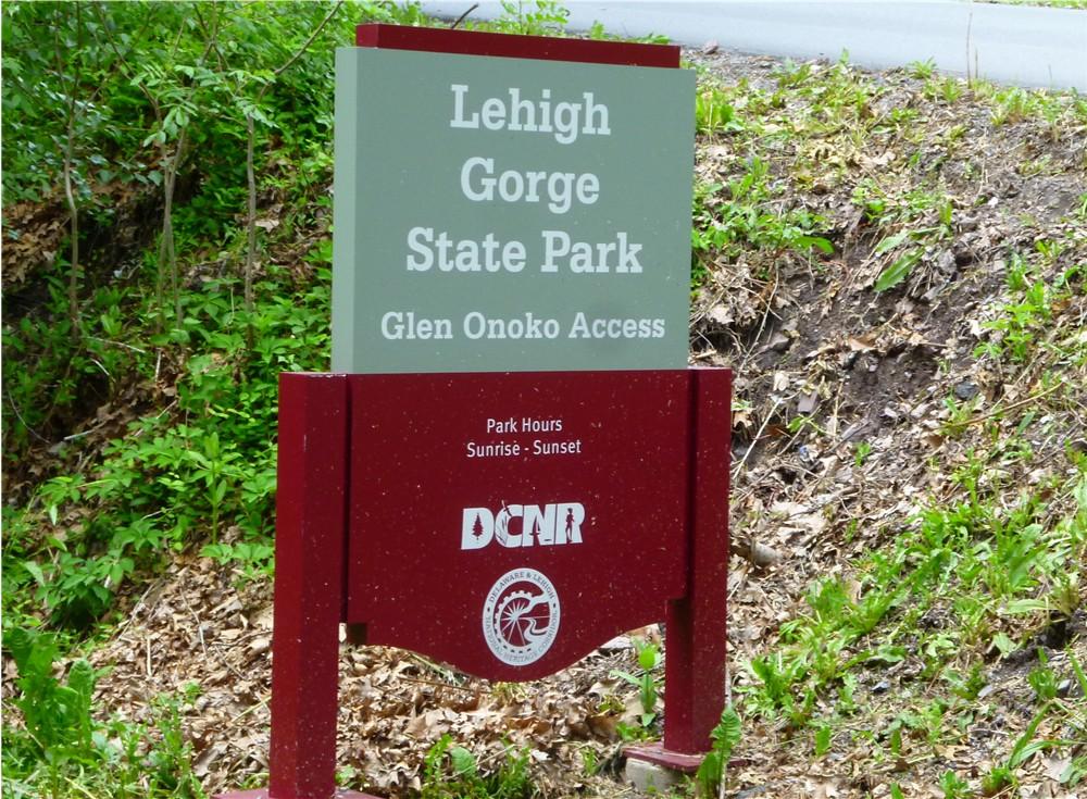 Lehigh Gorge State Park Glen Onoko Access Point Jim Thorpe Poconos PA