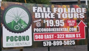 Pocono Bike Rental Fall Foliage Tours