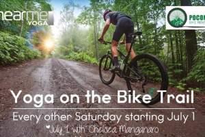Yoga in the Poconos on the Lehigh Gorge Bike Trail
