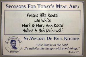 Saint Vincent de Paul Kitchen feeds over a thousand meals a week with the help of Pocono Bike Rental