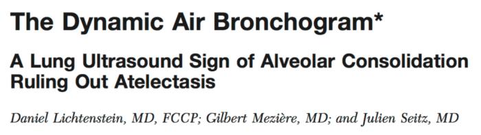 Dynamic Air-bronchogram