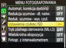 Auto ISO - ustawienia