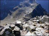 Widok z Małej Wysokiej (2429 m n.p.m.) w kierunku Polskiego Grzebienia - sierpień 2012
