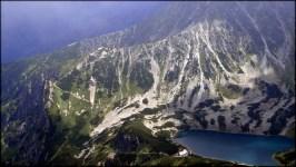 Widok z Koziego Wierchu (2291 m n.p.m.) - kontrast światła i cienia - 5 sierpnia 2013