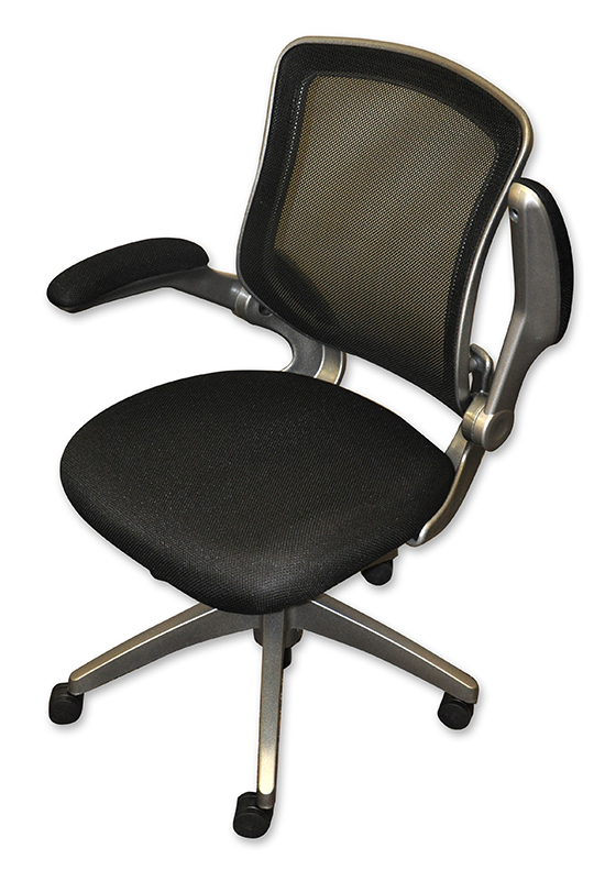 desk chair with wheels herman miller aeron task review office chairs minneapolis milwaukee podany s flip up arm mesh