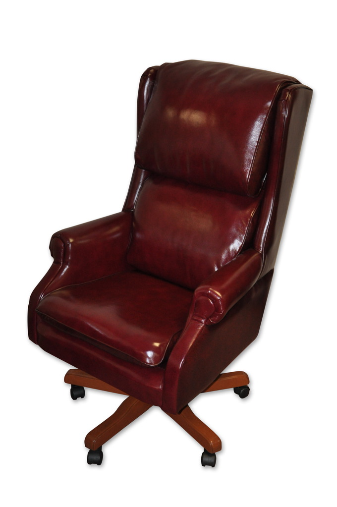 black leather reception chairs free wood chair plans wingback executive | podany's