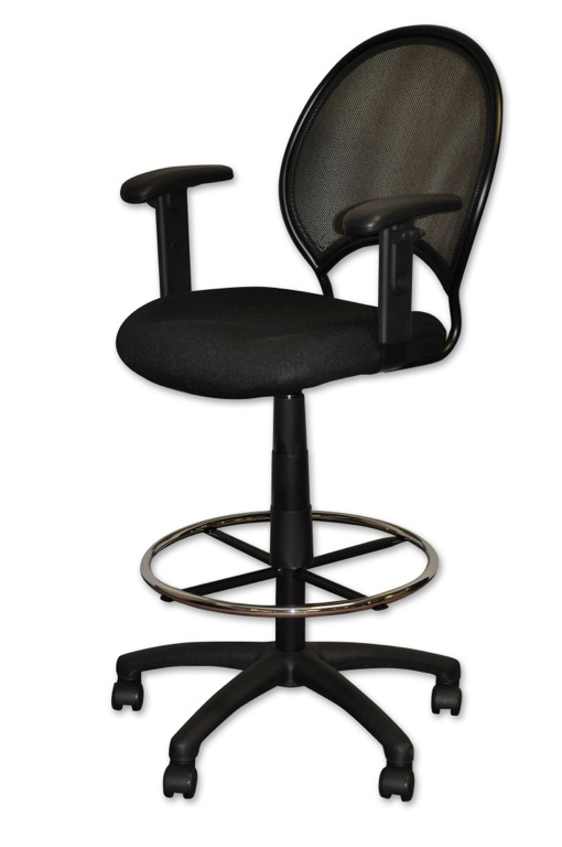 desk chair with wheels espresso rocking office chairs minneapolis milwaukee podany s mesh back drafting stool