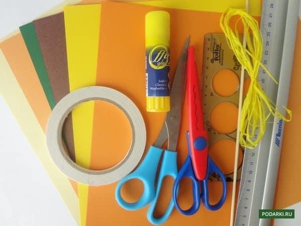 Szükséges anyagok a képeslap létrehozásához