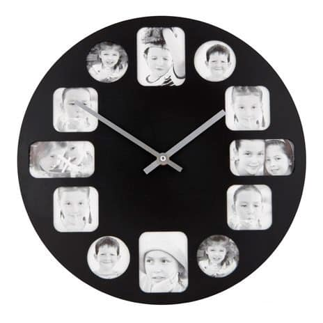 Wall clock with photo