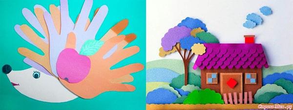 Ajándék színes papírból