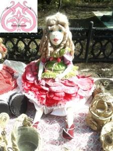 Текстильная кукла Цветочной коллекции.