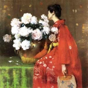 Цветы написанные кистью художника.