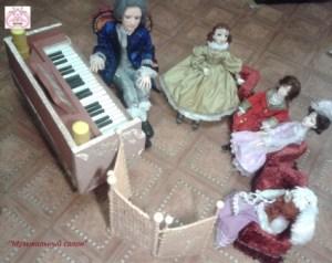Мебель для кукольного салона.