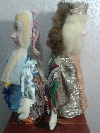 Образы двуликих кукол для театра.