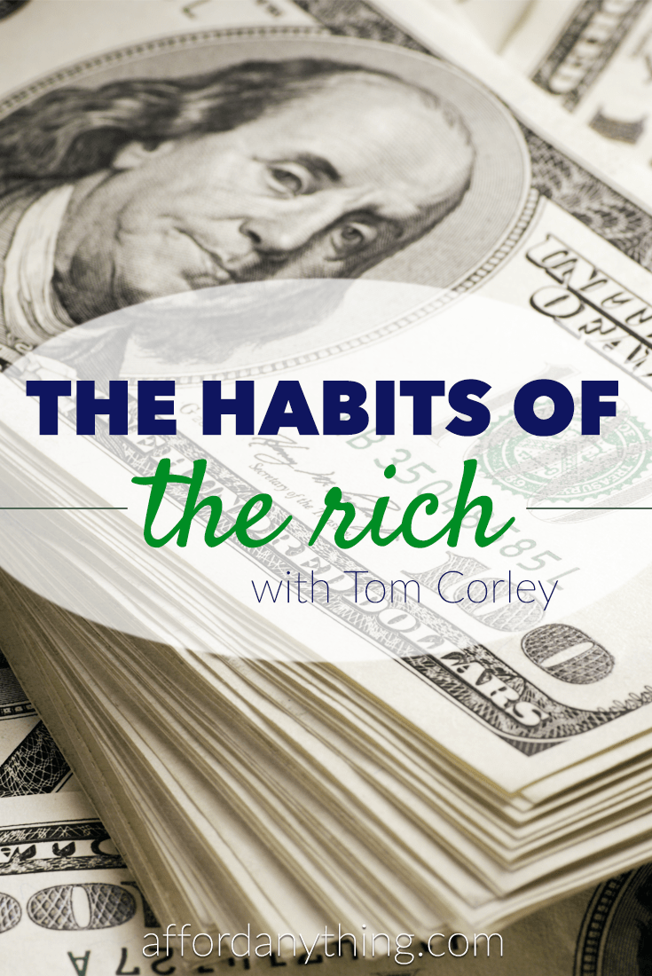Tom Corley studied self-made millionaires and the poor for over four years and then wrote a book about it: Rich Habits. Here's his story.