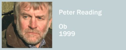 graphic for Peter Reading, Ob