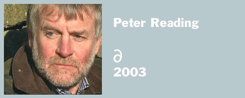 "graphic for Peter Reading 2003, ""delete"""