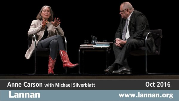 Anne Carson with Michael Silverblatt