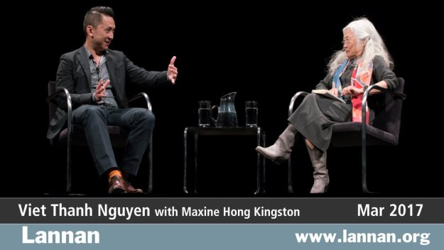 Viet Thanh Nguyen with Maxine Hong Kingston