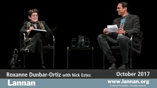 Roxanne Dunbar-Ortiz with Nick Estes, 11 October 2017