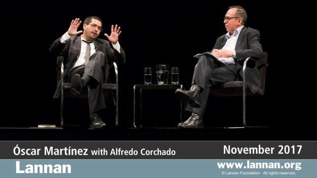 Óscar Martínez with Alfredo Corchado, 1 November 2017