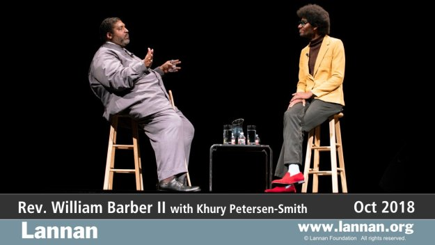 Rev. William Barber II with Khury Petersen-Smith.