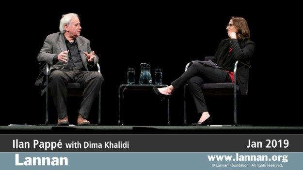 Ilan Pappé with Dima Khalidi.