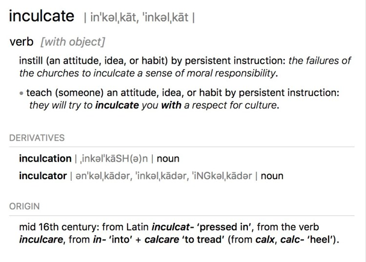 Definition of Inculcate