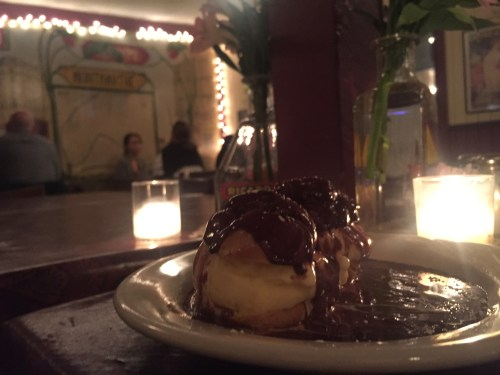 profiterole at Chez Nous in Austin