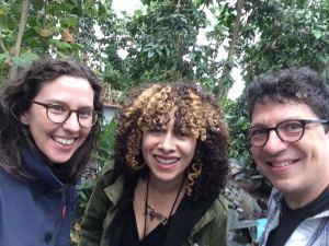 Production team from An Arm and a Leg podcast: Whitney Henry-Lester, Daisy Presario, and Dan Weissmann