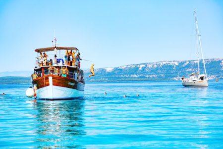Croatia jumping off boat