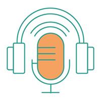 Podcastvrouw productie