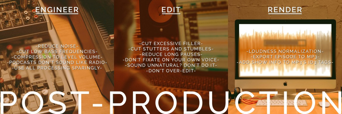 Podcast Process Post-Production