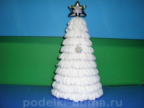 Árbol de Navidad de discos de algodón