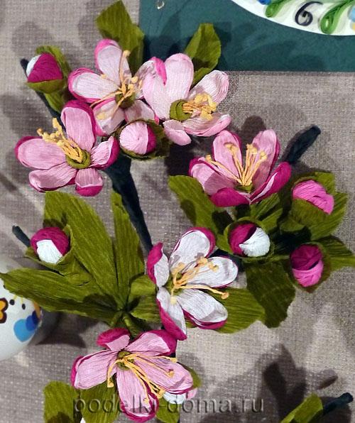 цветы из гофробумаги012