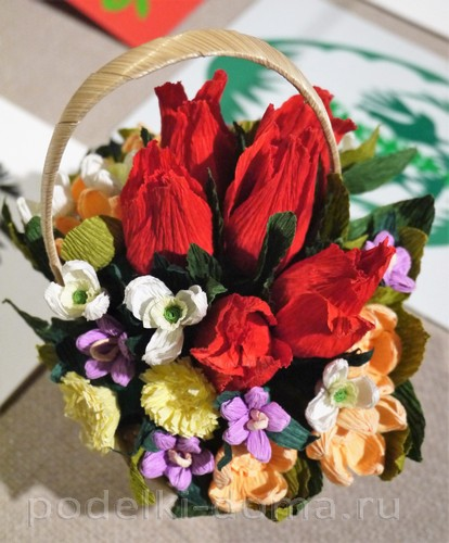 цветы из гофробумаги08