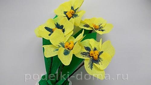 Paper Flowers Pansies 07.